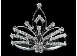 Mały diadem/ korona na grzebyku