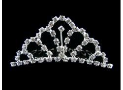 Diadem/ korona na grzebyku