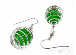 Kolczyki crackle oski zielone