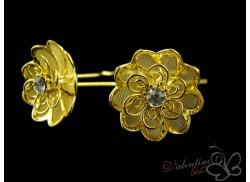 Okazały złoty kwiat midi