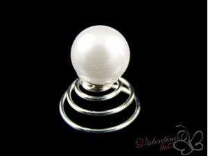 Wkrętka do włosów perła biała