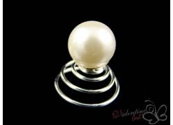 Wkrętka do włosów perła ecru