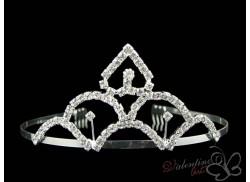 Diadem ślubny/ korona z grzebykami