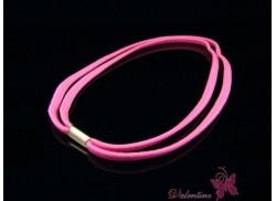 Opasko-gumka do włosów podwójna różowa
