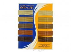 Wsuwki długie PRO-LAK 100szt.mix brązowe-beżowe