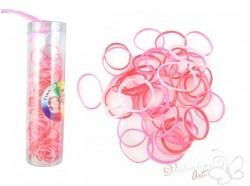 Gumki recepturki silikonowe 250 szt. mix róż/czerwień