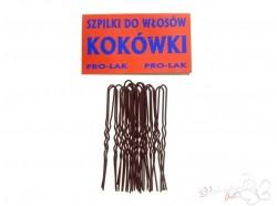 Szpilki do włosów KOKÓWKI 75mm 20 szt. brązowe