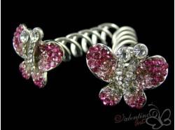 Szpilka SPIN PINS MOTYL różowy