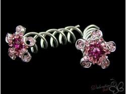 Szpilka SPIN PINS kwiat kolor różowy