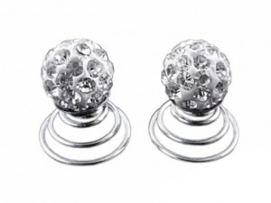 Wkrętka Anielska kula shambala biała crystal