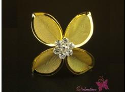 Okazały złoty kwiat 4 płatki