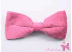 Spinka/ tukan z zamszową kokardą różowa