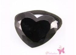 Gumka serce kryształowe czarne