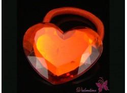 Gumka serce kryształowe czerwone