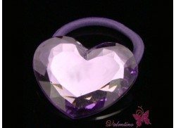 Gumka serce kryształowe fioletowe