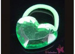 Gumka serce kryształowe zielone