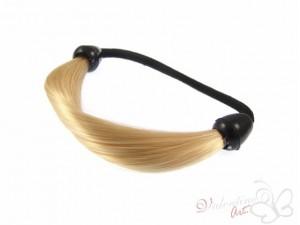 Gumka z pasmem włosów jasny blond