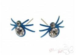 """Wkręty """"pająk"""" kolorowy z cyrkonią """"L"""" błękitny"""