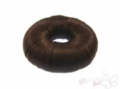 Wypełniacz do koka ze sztucznych włosów okrągły brązowy