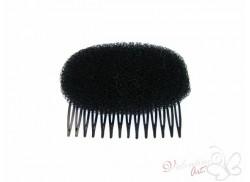 Wypełniacz do podnoszenia fryzury na grzebyku czarny