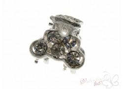 Srebrna żabka do wlosów z cyrkoniami 02 crystal