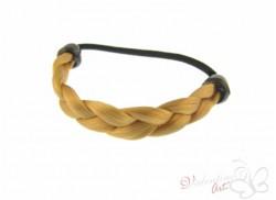 Gumka z pasmem włosów warkocz słoneczny blond