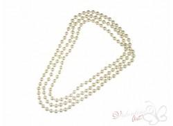 Naszyjnik długi sznur pereł ecru