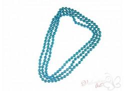 Naszyjnik długi sznur pereł błękitny