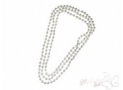Naszyjnik długi sznur pereł biały