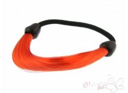 Gumka z pasmem włosów czerwona