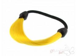 Gumka z pasmem włosów zółta