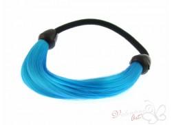 Gumka z pasmem włosów niebieska