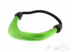 Gumka z pasmem włosów zielona