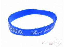 Bransoletka żelowa BEST FRIENDS niebieska