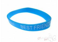 Bransoletka żelowa BEST FRIENDS błękitna
