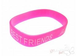Bransoletka żelowa BEST FRIENDS różowa