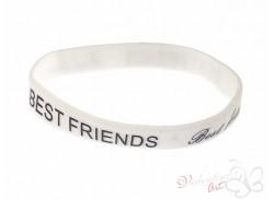 Bransoletka żelowa BEST FRIENDS biała