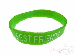 Bransoletka żelowa BEST FRIENDS zielona
