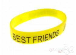 Bransoletka żelowa BEST FRIENDS żółta