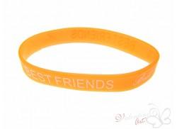 Bransoletka żelowa BEST FRIENDS pomarańczowa