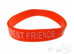 Bransoletka żelowa BEST FRIENDS czerwona