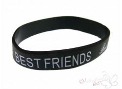 Bransoletka żelowa BEST FRIENDS czarna