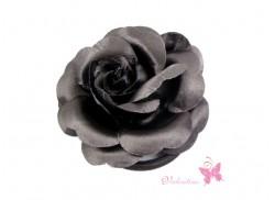 Gumka do włosów/ broszka róża czarna