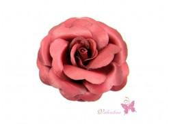 Gumka do włosów/ broszka róża bordo