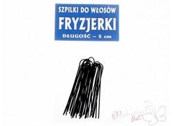 Szpilki do włosów FRYZJERKI profilowane 20szt. czarne